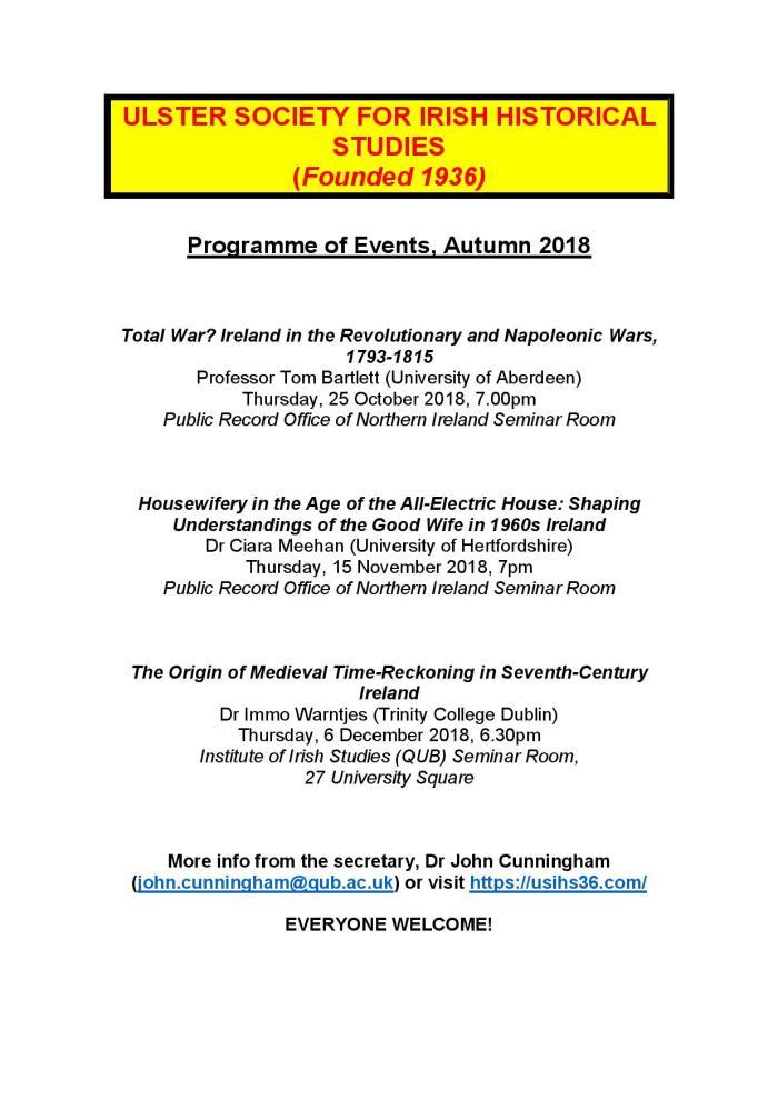USIHS Programme Autumn 2018 (2)