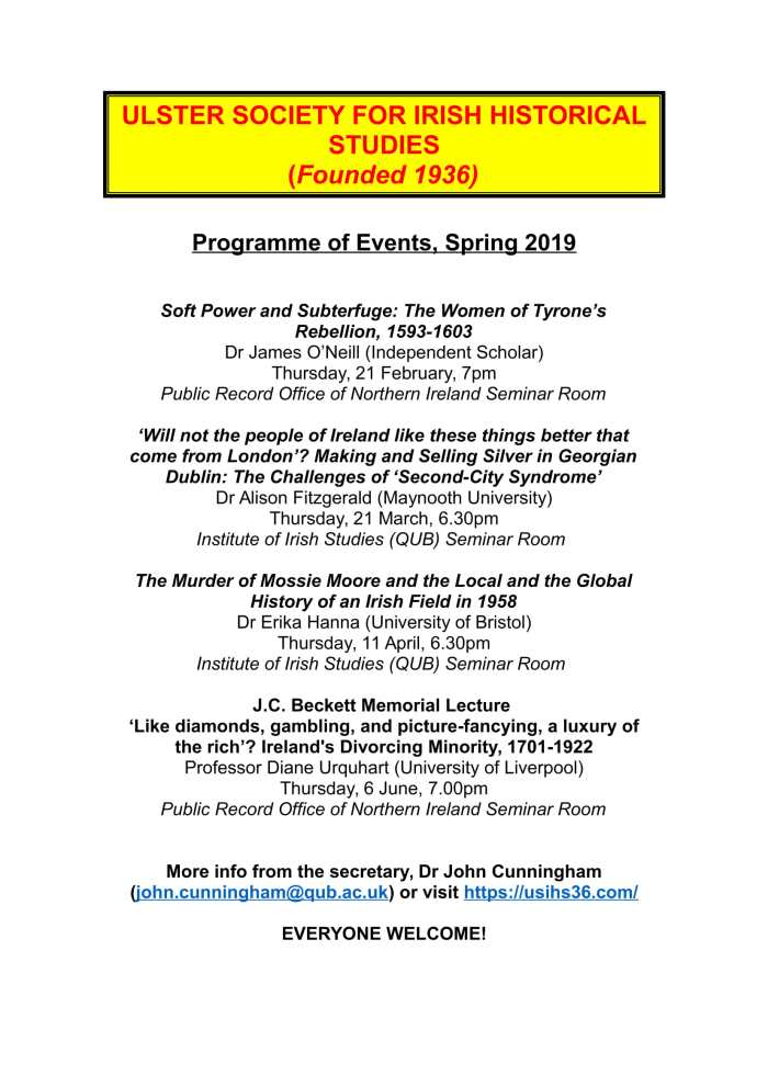 usihs programme spring 2019